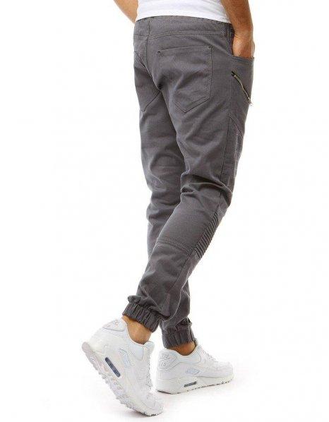 Pánske šedé jogger nohavice
