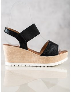 Semišové ploché sandále
