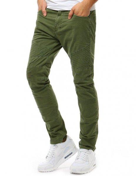 Pánske zelené džínsové nohavice