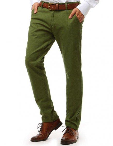 Zelené pánske chinos nohavice