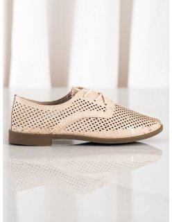 Dierkované ploché sandále
