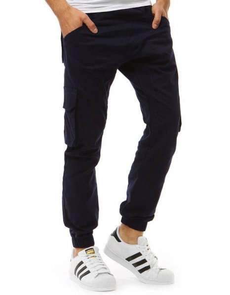 Pánske tmavomodré jogger nohavice