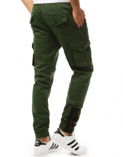 Zelené pánske jogger nohavice