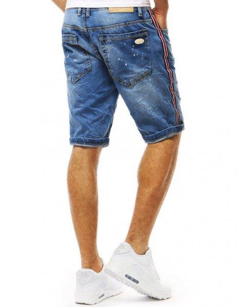 Modré pánska džínsové kraťasy