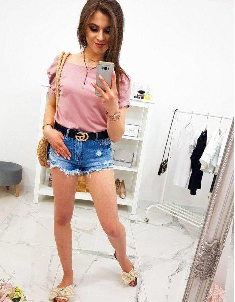 Ružové dámske tričko Basic Premium