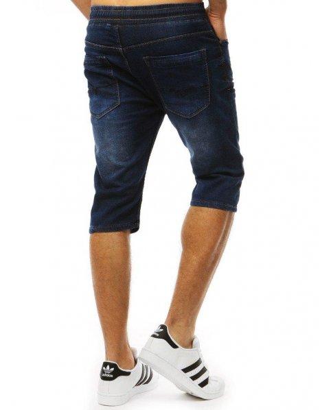 Tmavo-modré pánske nohavice s džínsovým vzhľadom