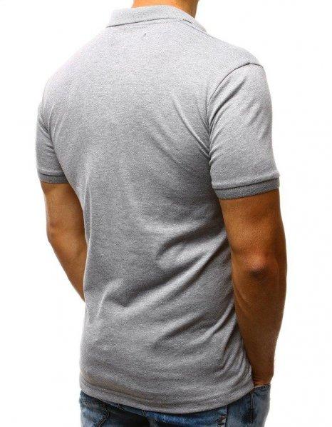 Šedá pánska Polo košeľa