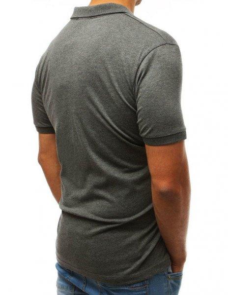 Antracitová pánska Polo košeľa