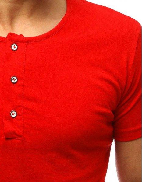 Pánske čierne tričko bez potlače červené