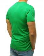 Zelené pánske tričko bez potlače