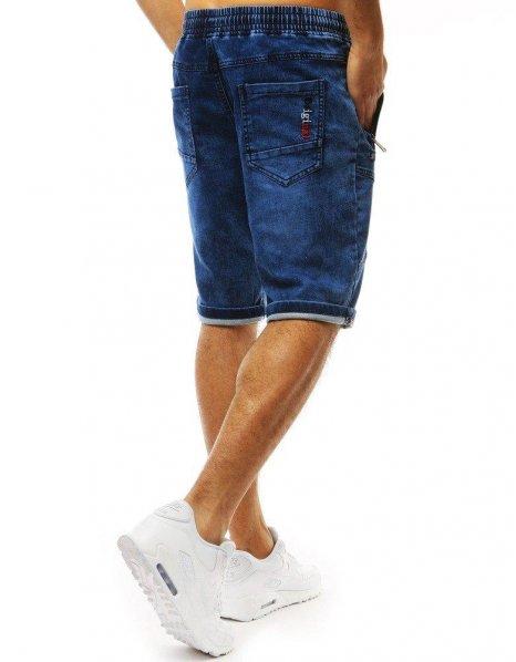 Modré pánske kraťasy s džínovým vzhľadom