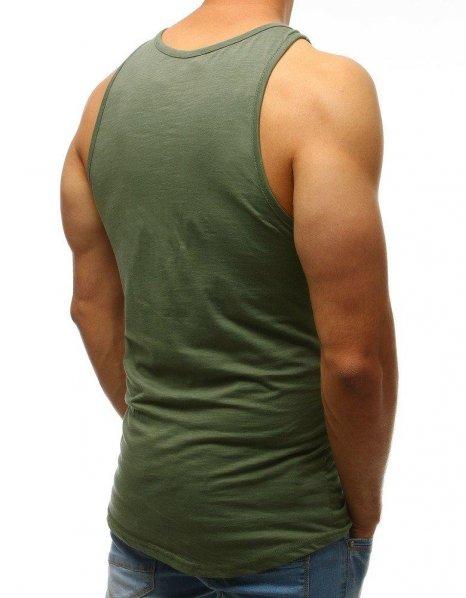 Zelené pánske tielko s potlačou