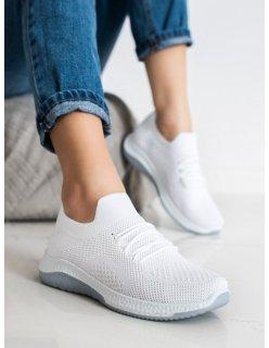 Šedé topánky s kožúškom