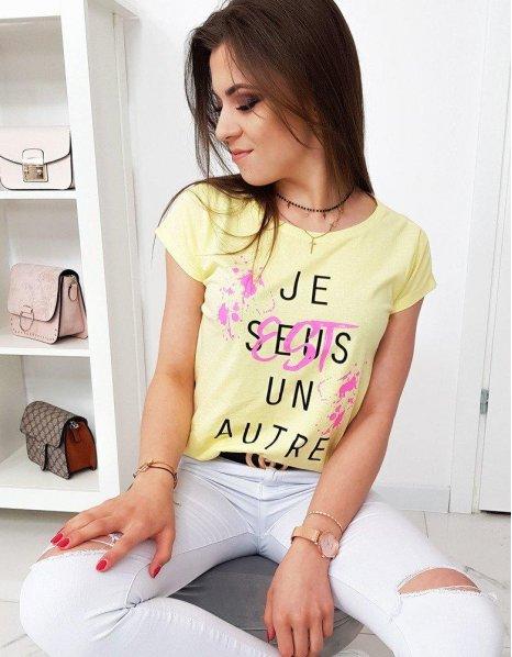 Citrónové dámske tričko s potlačou