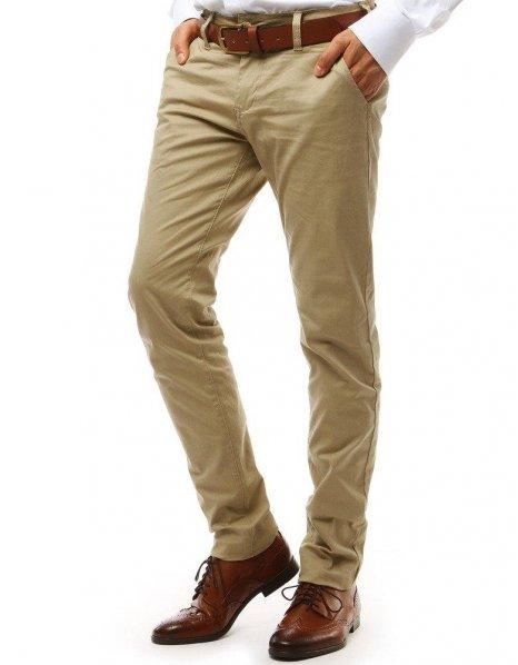 Béžové pánske chionos nohavice
