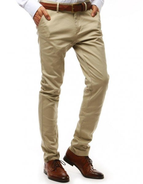 Svetlo béžové pánske chionos nohavice