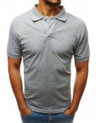 Svetlo šedá pánska Polo košeľa