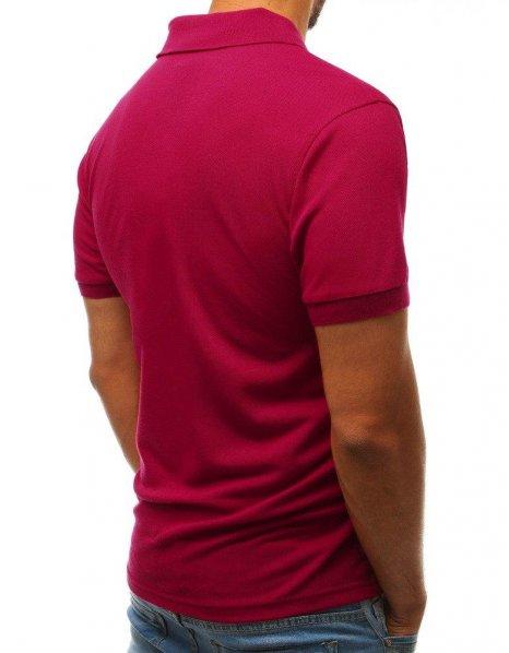 Bordová pánska Polo košeľa