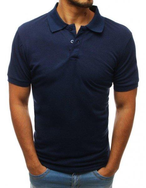 Tmavo modrá pánska Polo košeľa