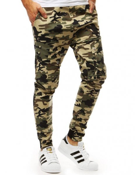 Béžové pánske jogger nohavice