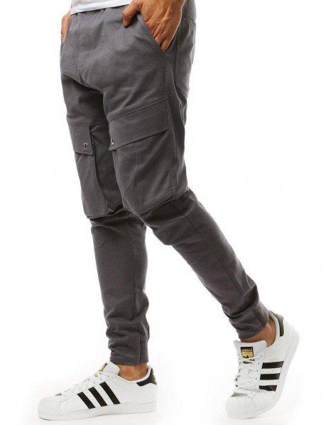 Šedé pánske jogger nohavice
