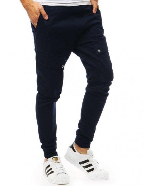 Tmavomodré pánske jogger nohavice