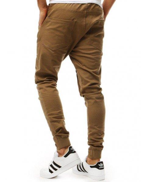 Hnedé pánske jogger nohavice