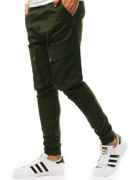 Khaki pánske jogger nohavice