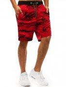 Červené pánske teplákové maskáčové nohavice