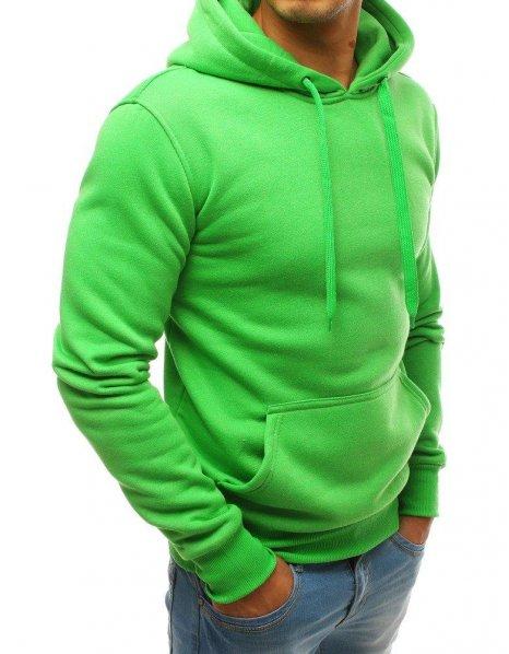 Zelená pánska mikina s kapucňou