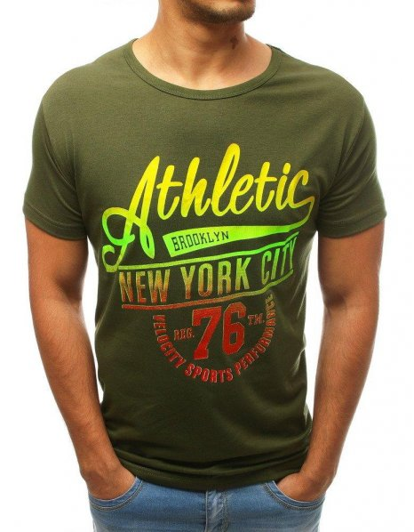 Zelené pánske tričko s potlačou