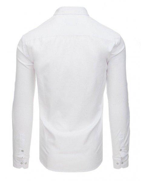 Biela pánska košela s dlhým rukávom