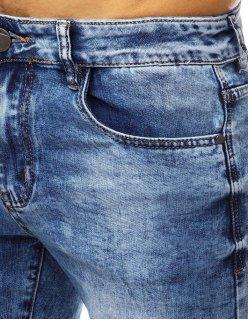 Košeľa pánska elegantná so vzorom modrá
