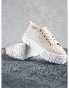 Béžové tenisky Fashion Shoes