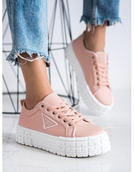 Ružové tenisky Fashion Shoes