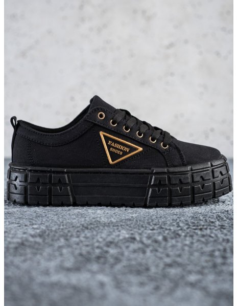 Čierne tenisky Fashion Shoes