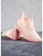 Ružové textilné tenisky