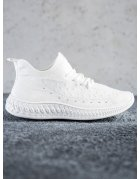 Biele textilné tenisky