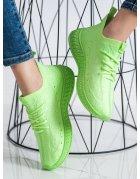 Zelené textilné tenisky