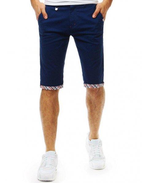 Tmavomodré pánske džínsové kraťasy