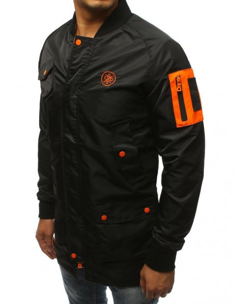Pánska čierna bunda prechodná