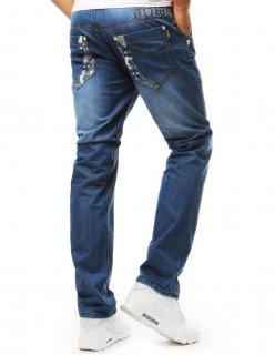 Pánske džínsové nohavice modré