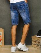 Modré džínsové pánske kraťasy