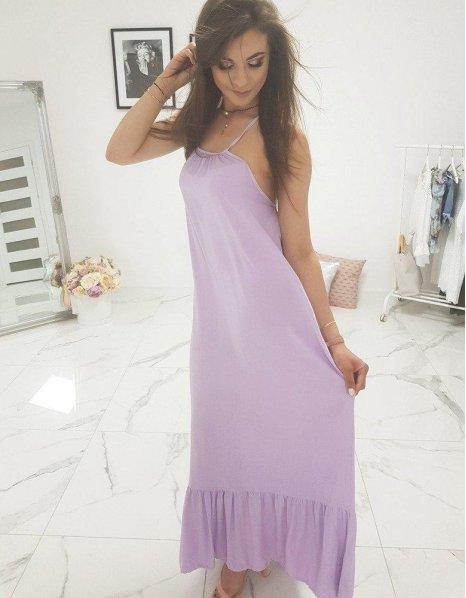 Fialové dlhé šaty