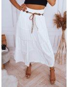 Biela maxi sukňa val