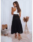 Čierna maxi sukňa val