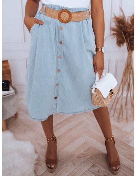 Modrá midi sukňa Ranssa