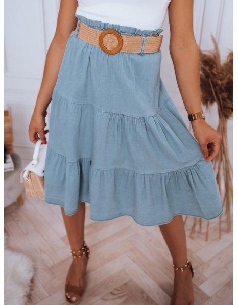 Modrá midi sukňa Randina
