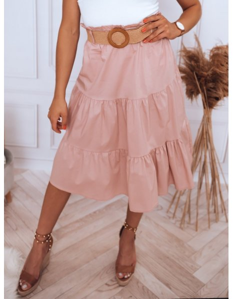 Ružová midi sukňa Randina