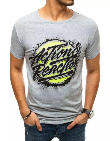 Svetlošedé pánske tričko s potlačou